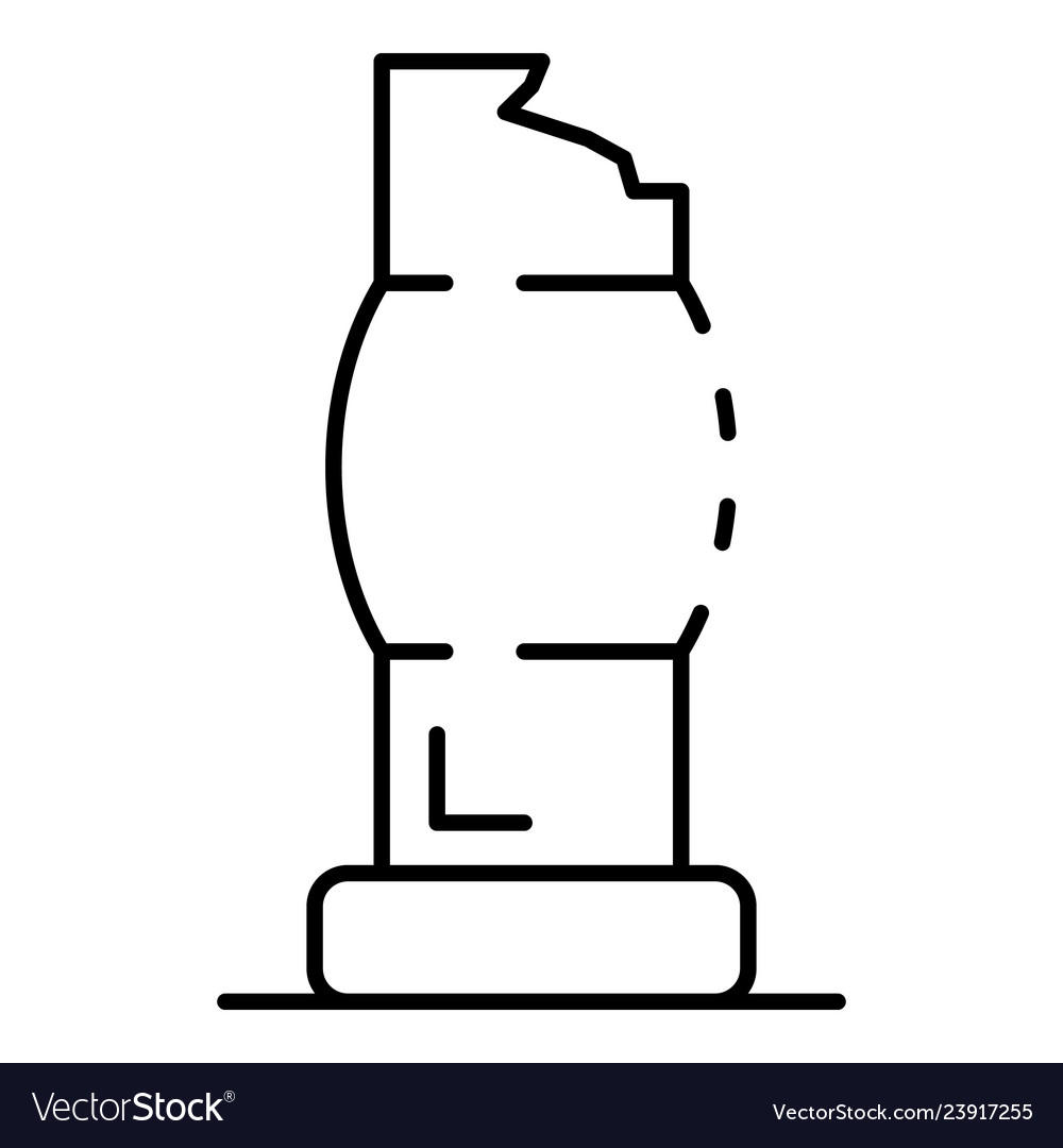 Ancient column icon outline style