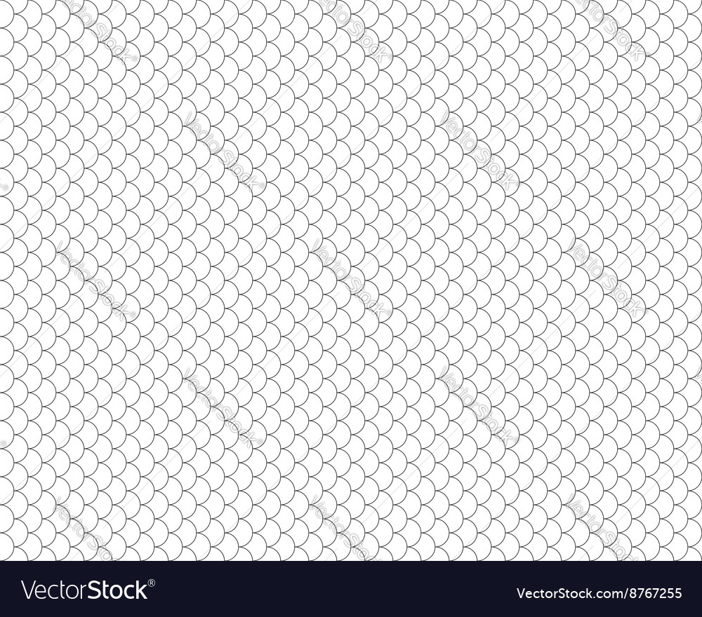 Fish seamless black and white background vector image
