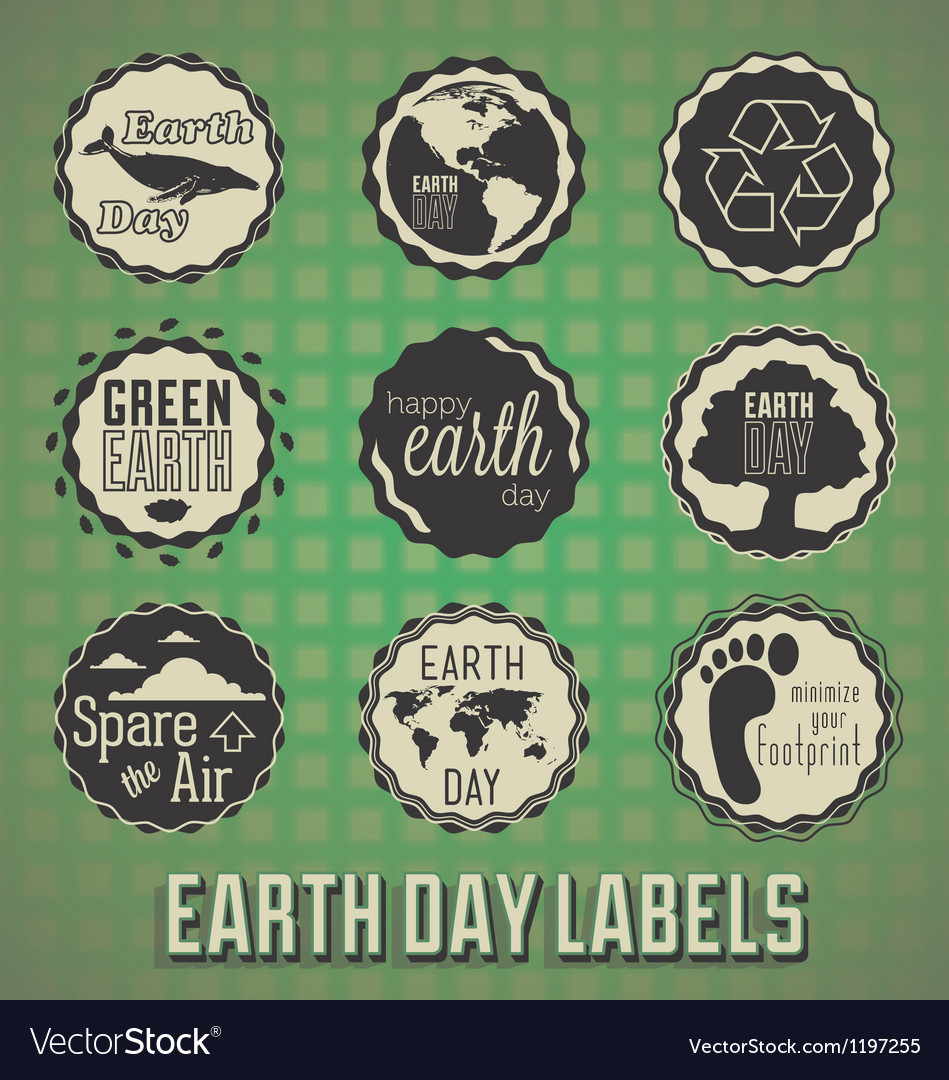 Happy Earth Day Labels