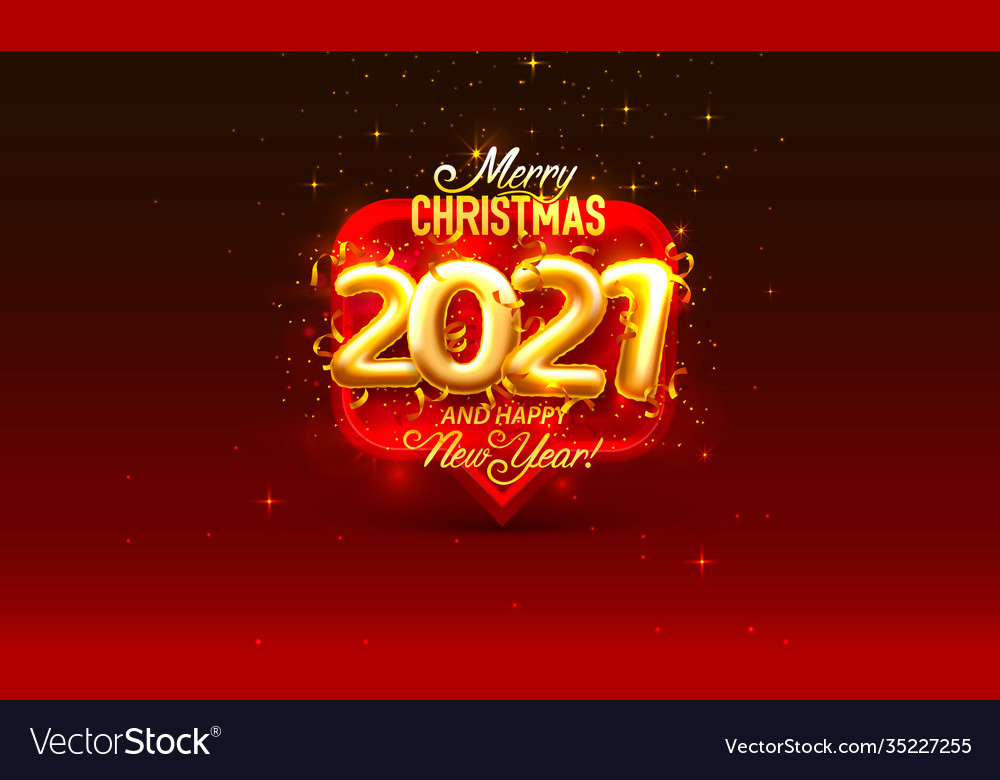 Happy new 2021 year holiday cover festive