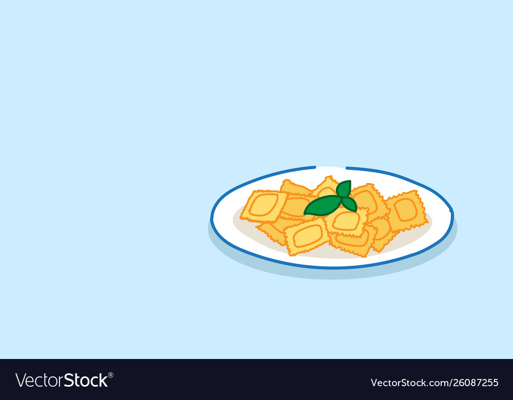 Heaped plate pasta with basil restaurant food