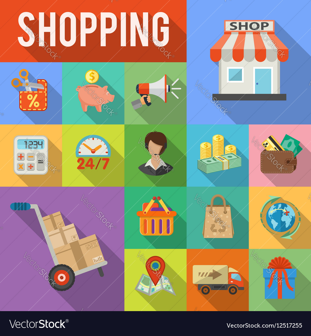Internet Shopping and Delivery concept vector image