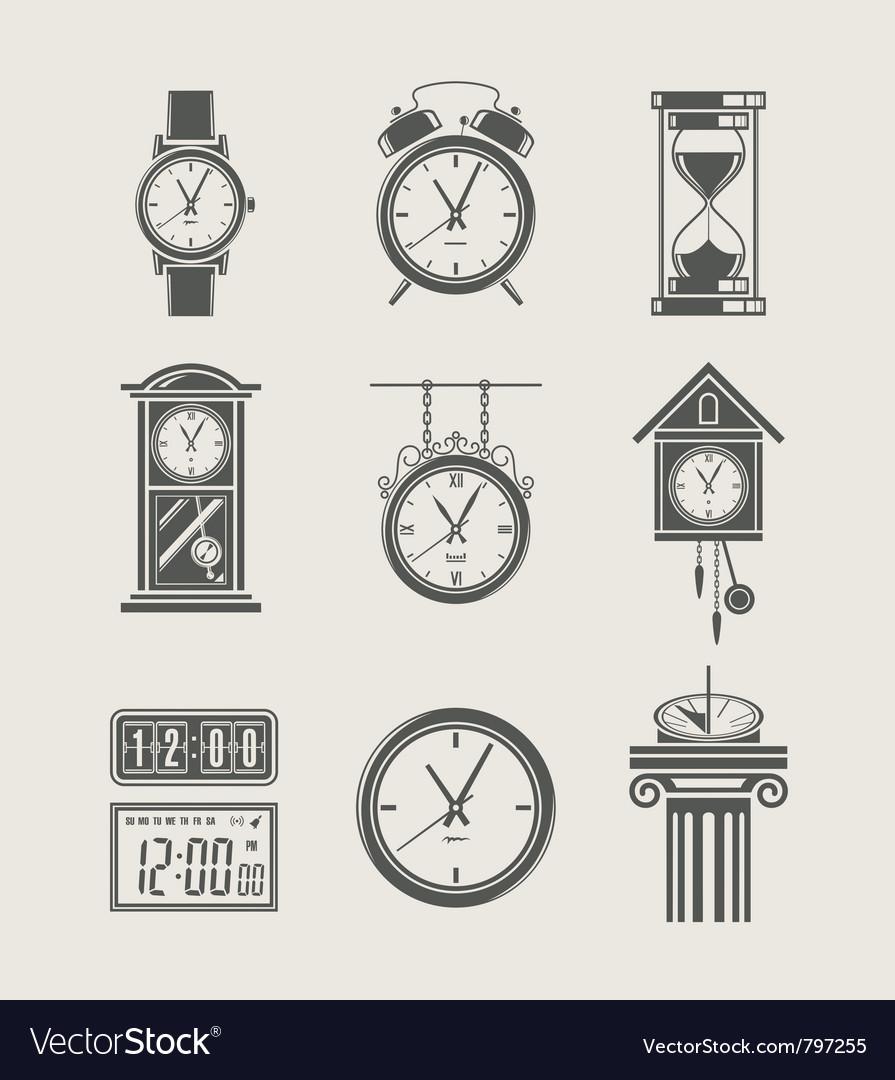 Retro and modern clock set