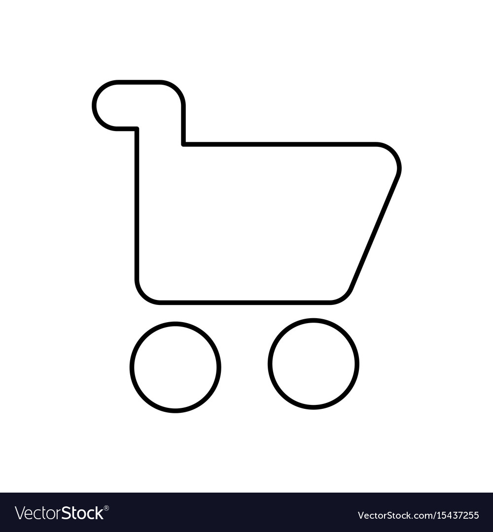 Shopping cart icon isolated lined vector image