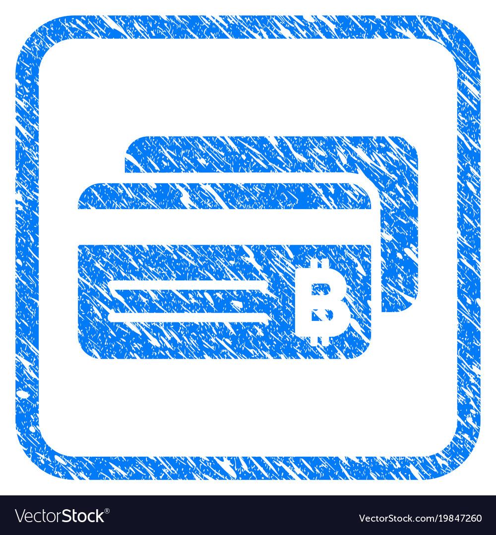 Bitcoin bank cards framed stamp