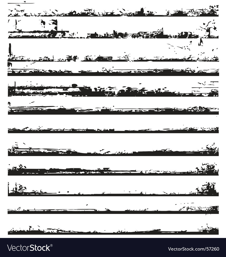 Edges of grunge vector image