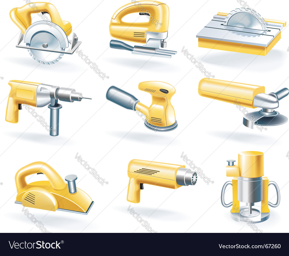 Electric tools icons