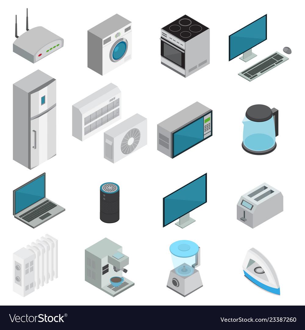 Electronics isometric set