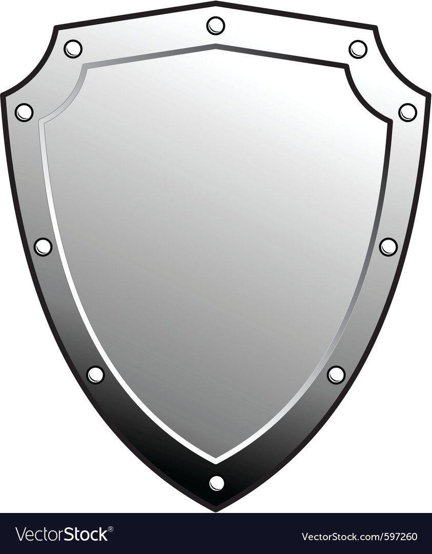 metal heraldic shield royalty free vector image rh vectorstock com vector shield mounting media vector shields free download
