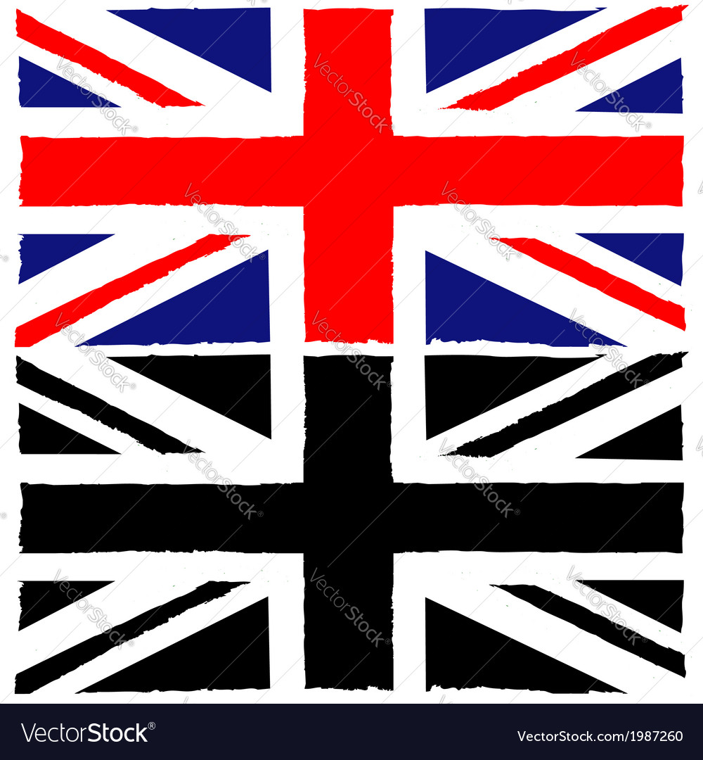 painted union jack royalty free vector image vectorstock rh vectorstock com union jack vectoriel union jack vector download