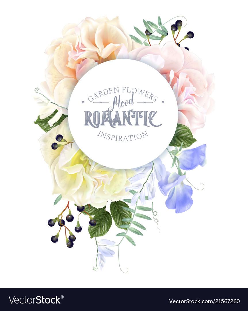 Rose round banner