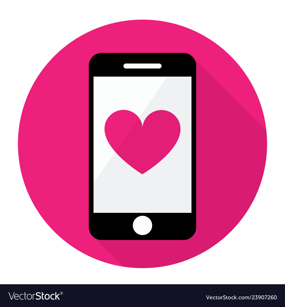 Smart phone and heart icon