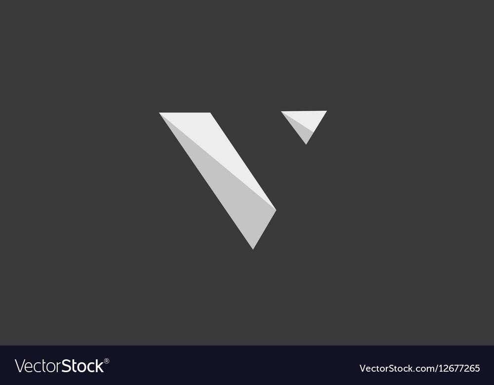 Alphabet letter V logo icon design vector image