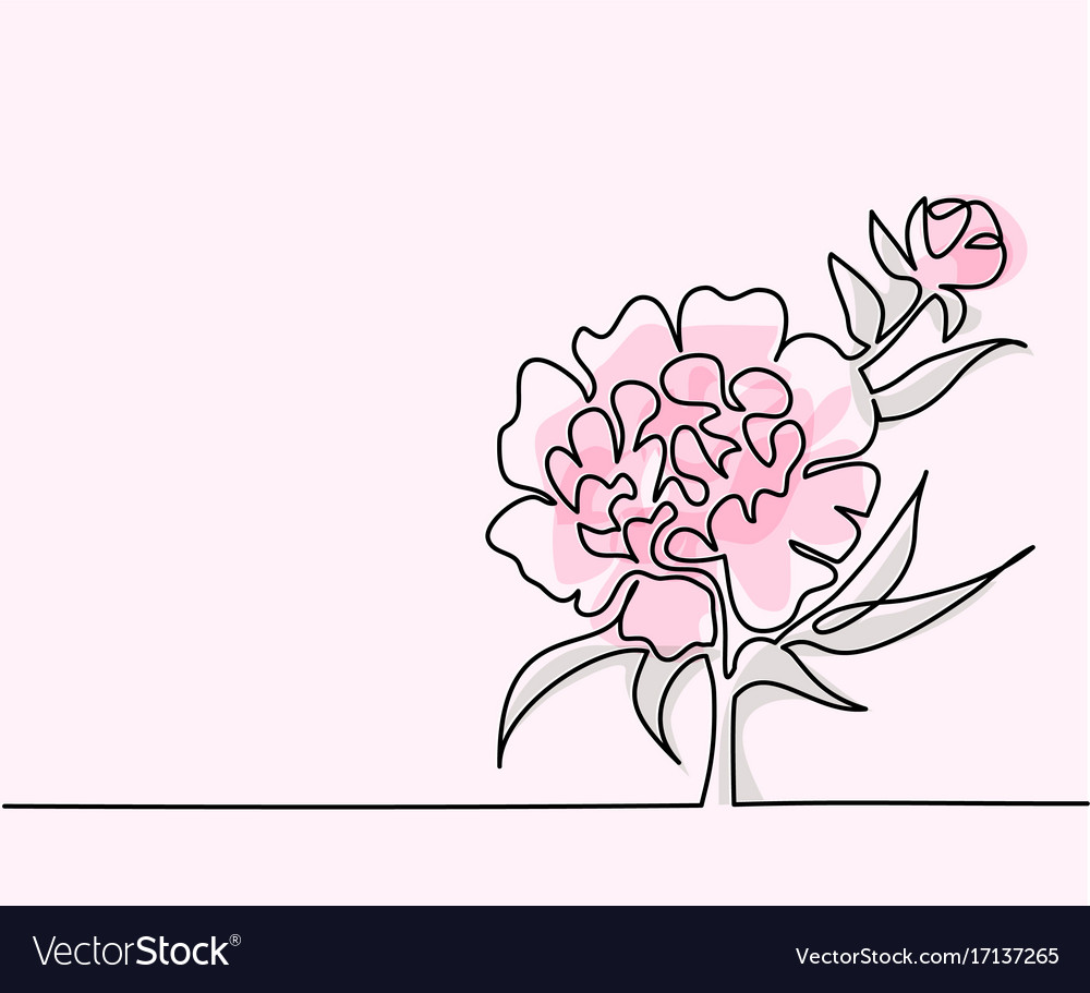 Drawing Of Beautiful Flower Royalty Free Vector Image