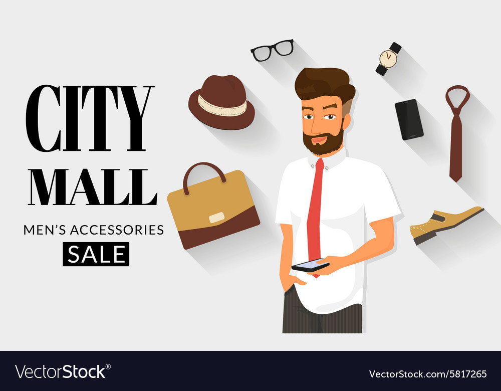 Handsome man doing online shopping