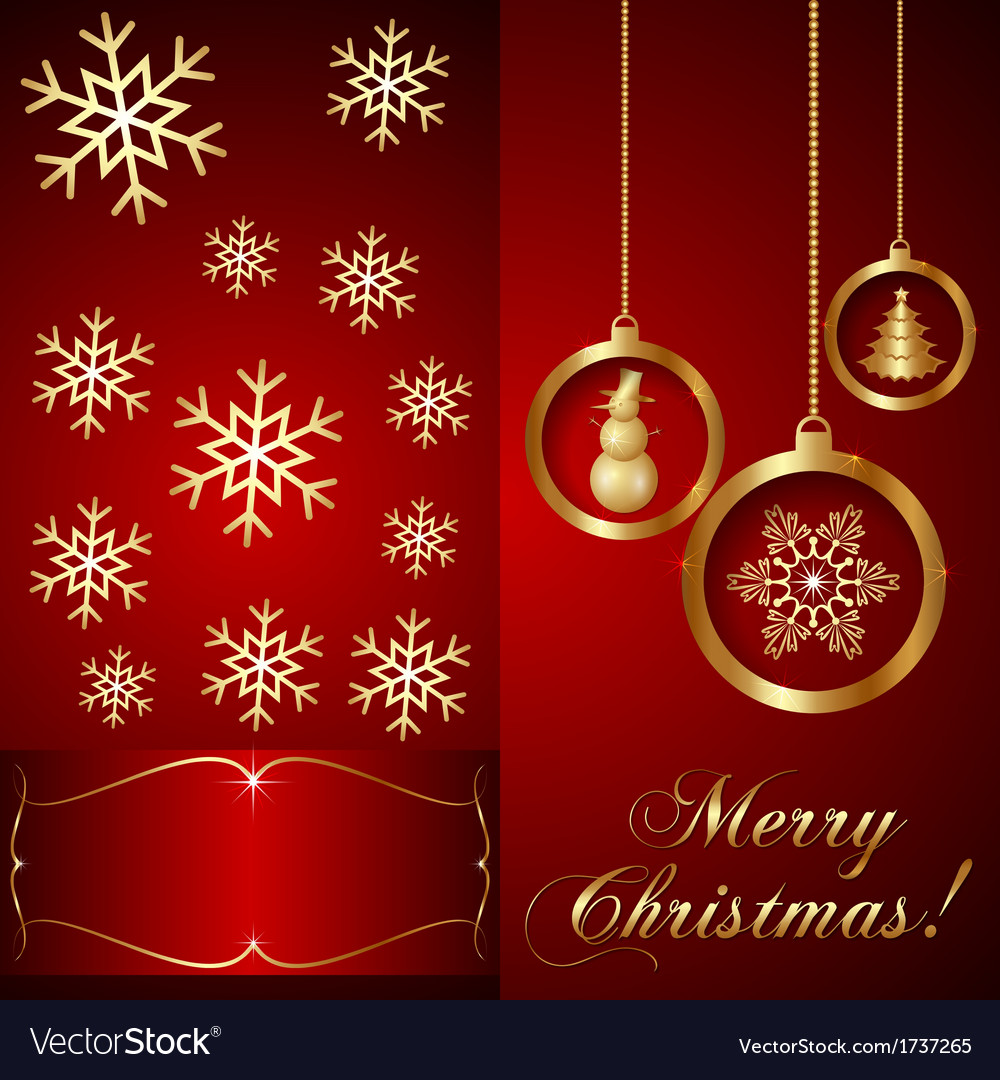 Red christmas invitation card royalty free vector image red christmas invitation card vector image stopboris Gallery