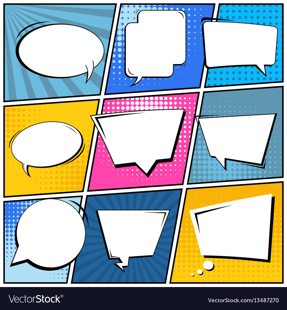 Abstract creative concept comic pop art
