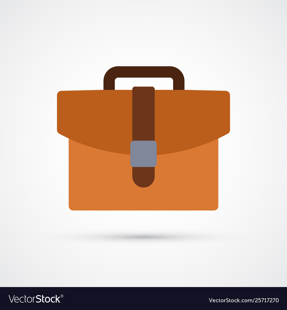 Briefcase trendy symbol trendy colored