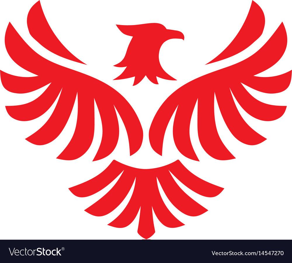 Eagle Bird Logo Design Flying Hawk Royalty Free Vector Image