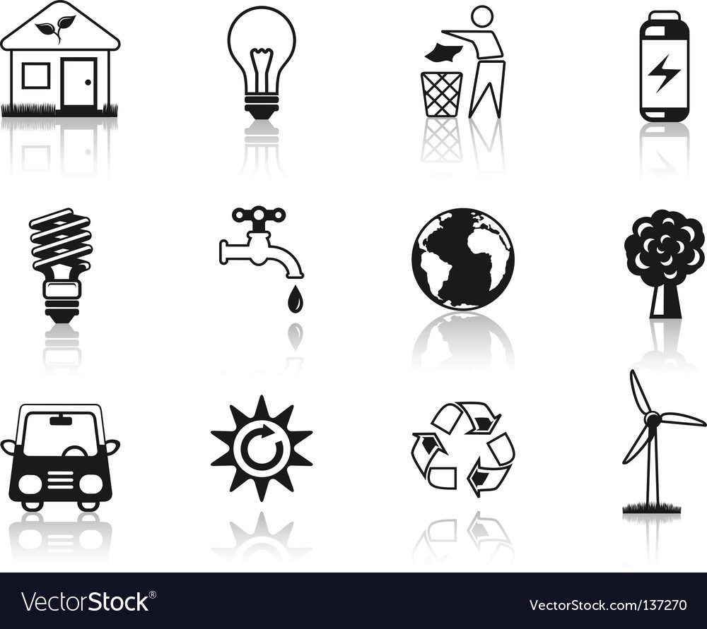 Environment black vector image
