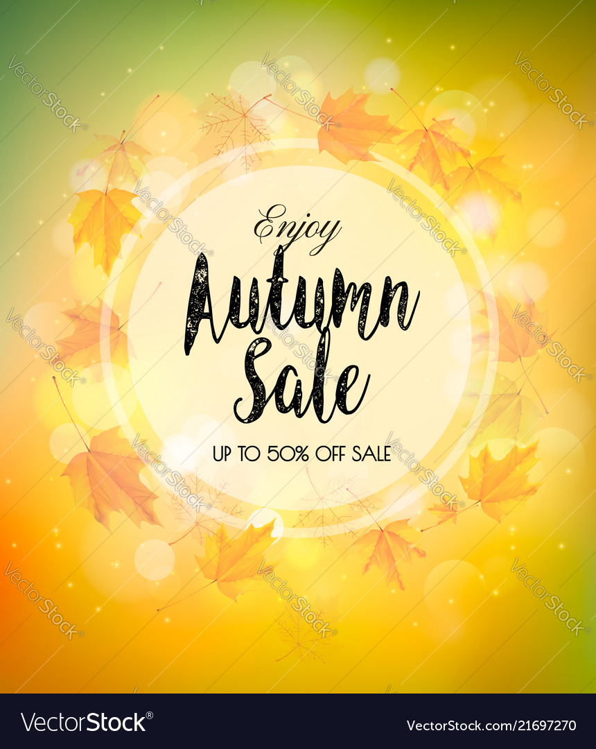 Fall autumn colorful sale background