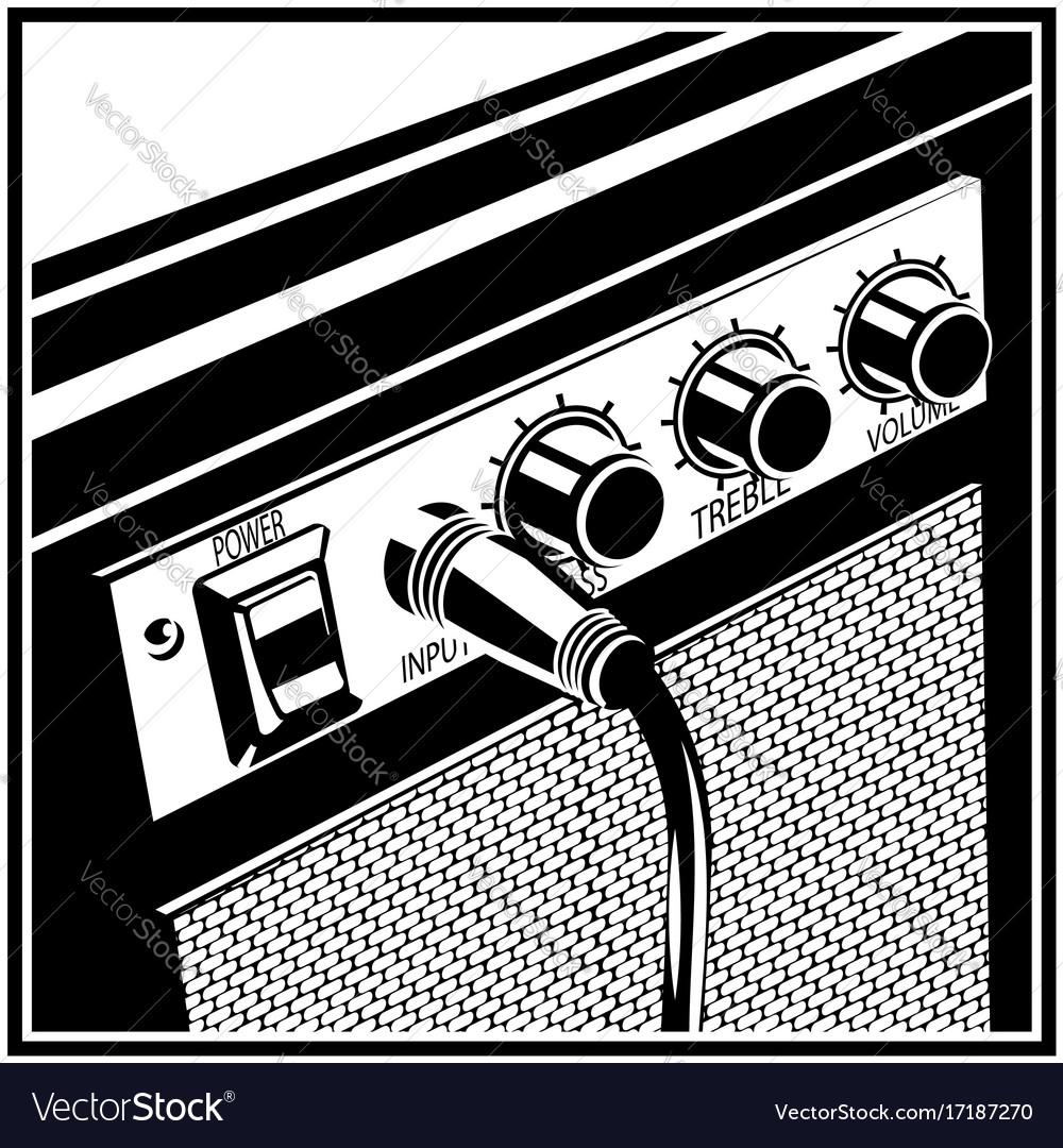 Guitar amplifier symbol vector image
