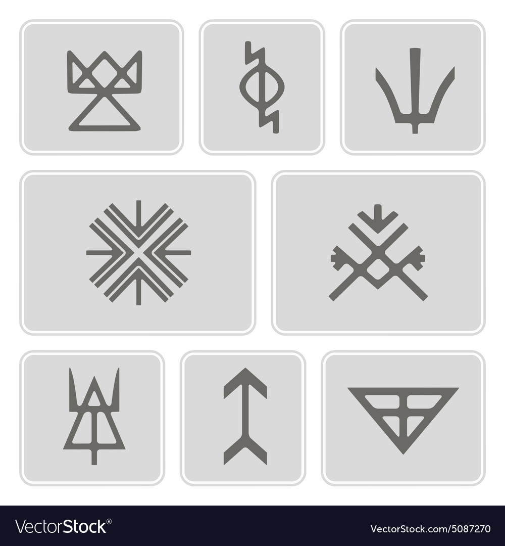 Icons With Slavic Pagan Symbols Royalty Free Vector Image