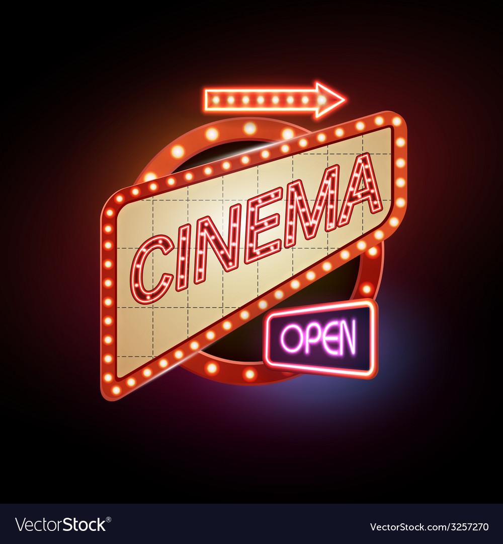 Neon sign Cinema