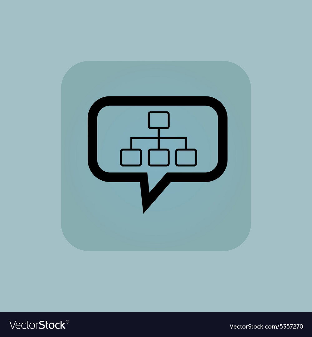 Pale blue scheme message icon
