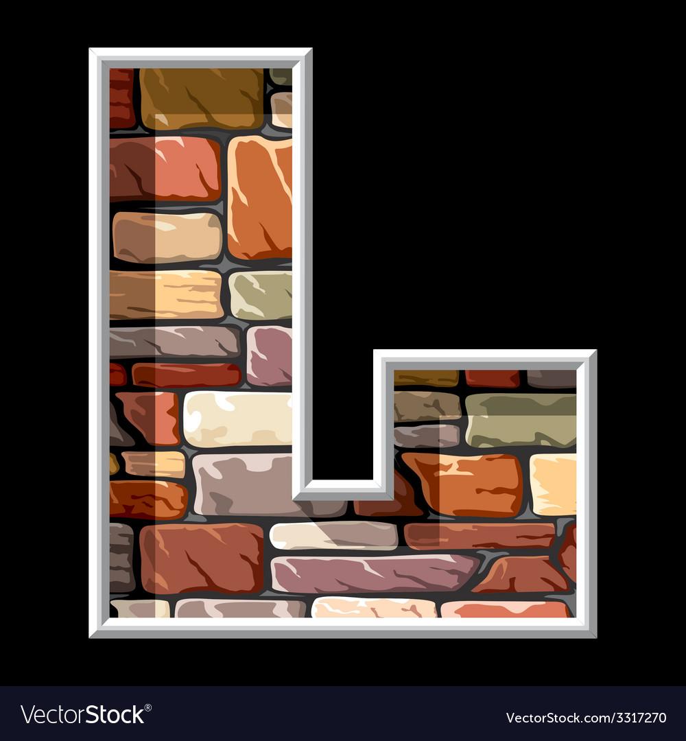 Stone letter L vs