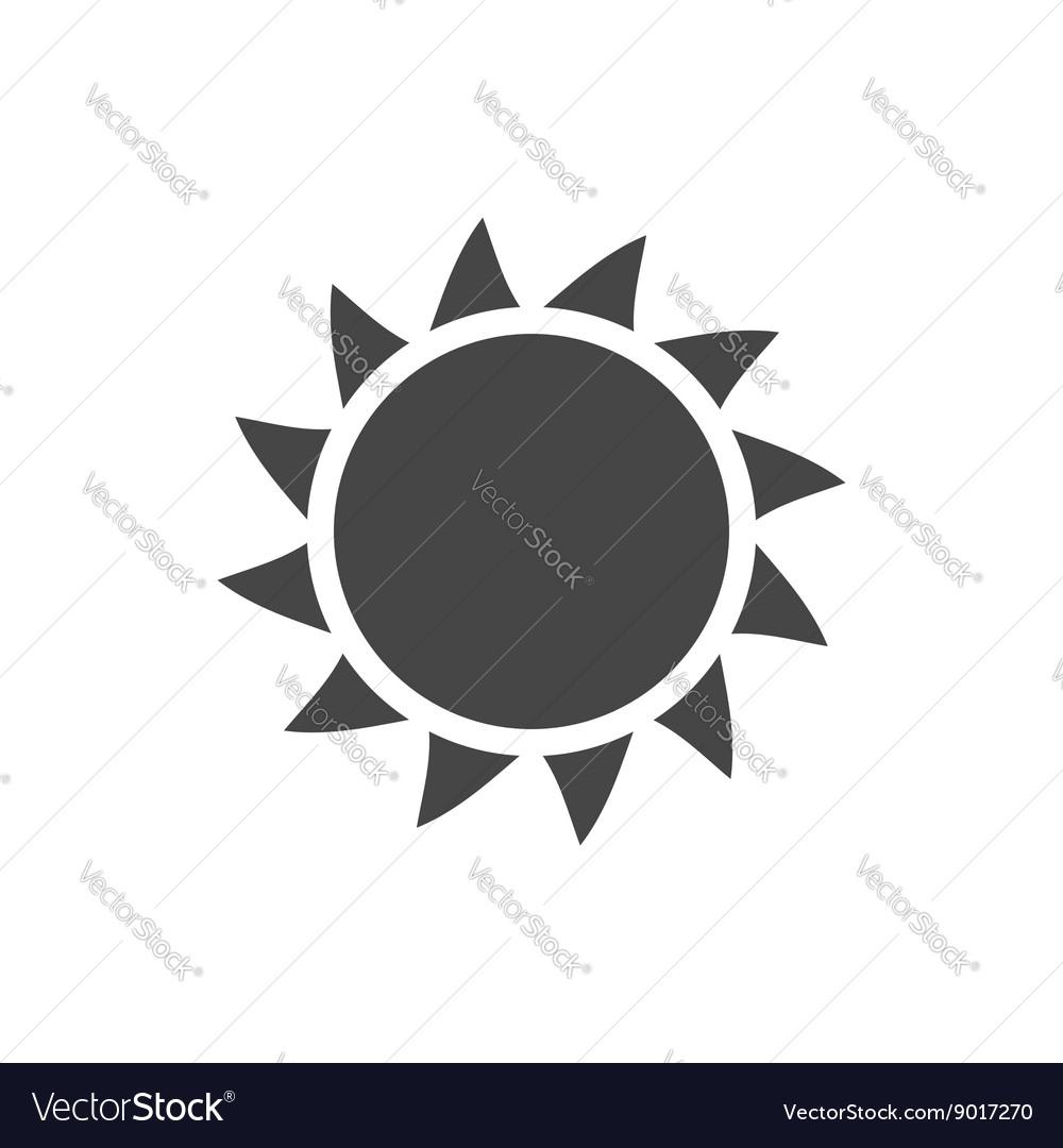 Sun icon Light sunbeams Gray design sign