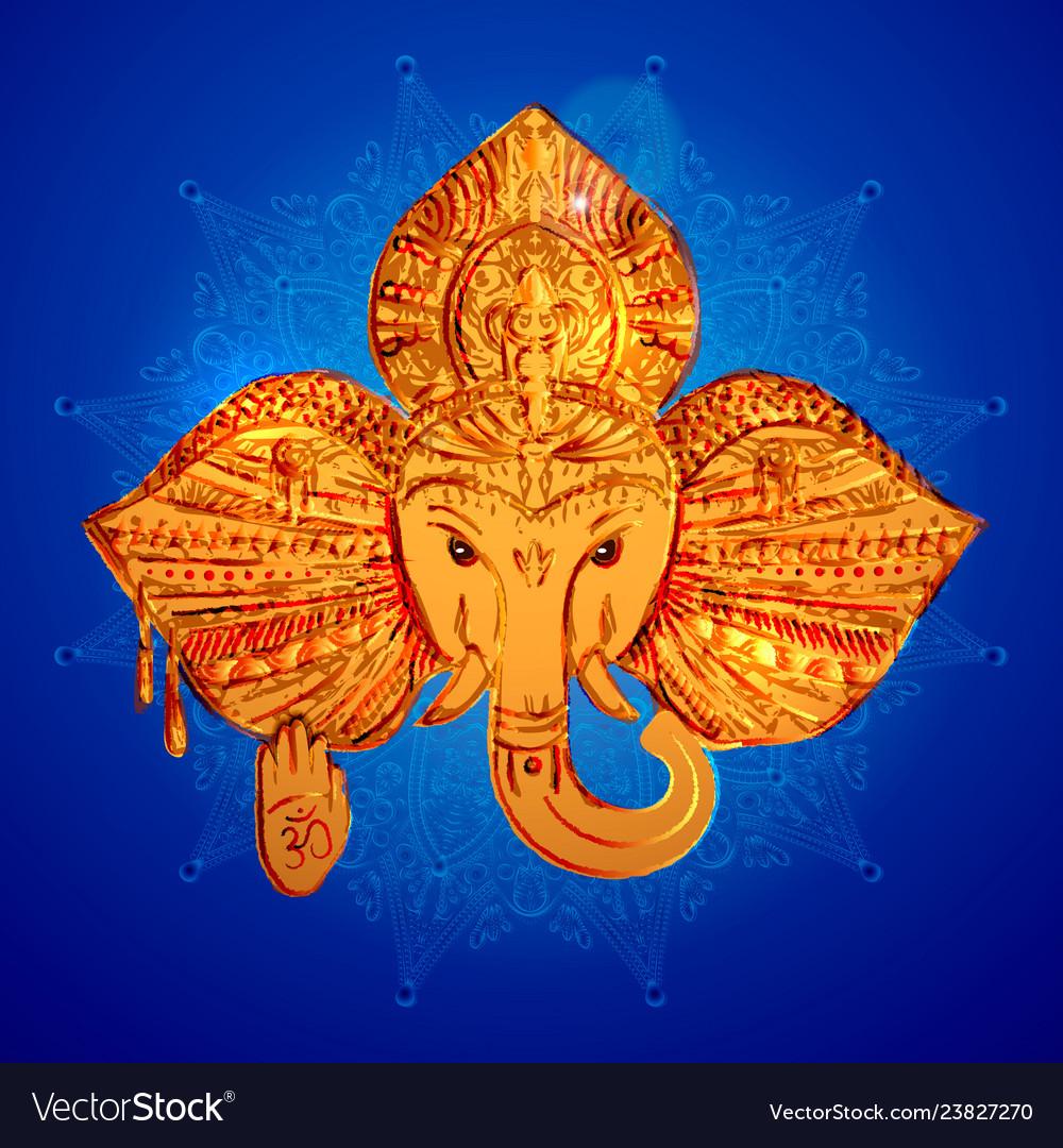 The head of an elephant the indian god ganesh