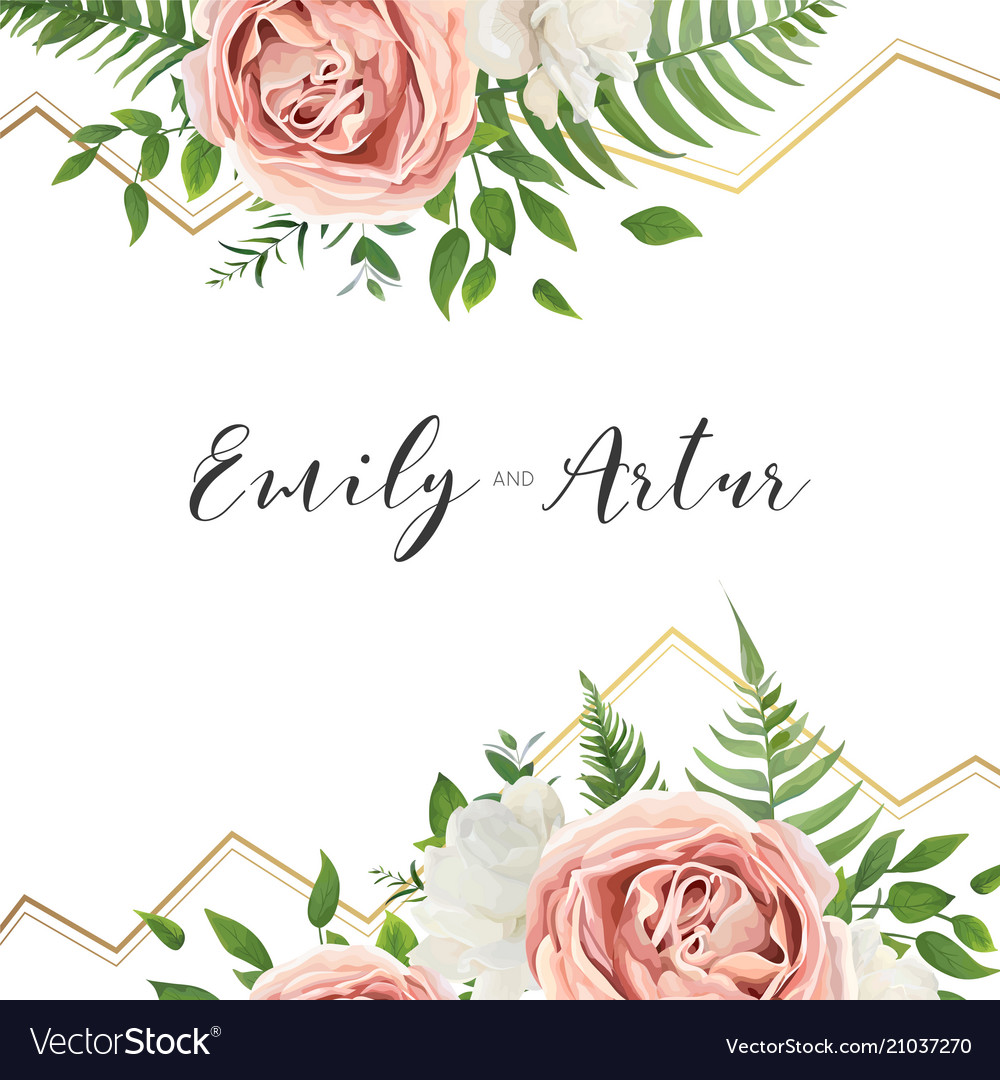 Wedding floral invite invitation save date card