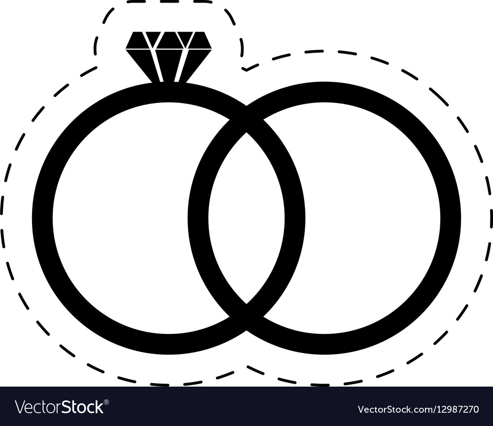 Wedding rings diamond luxury pictogram