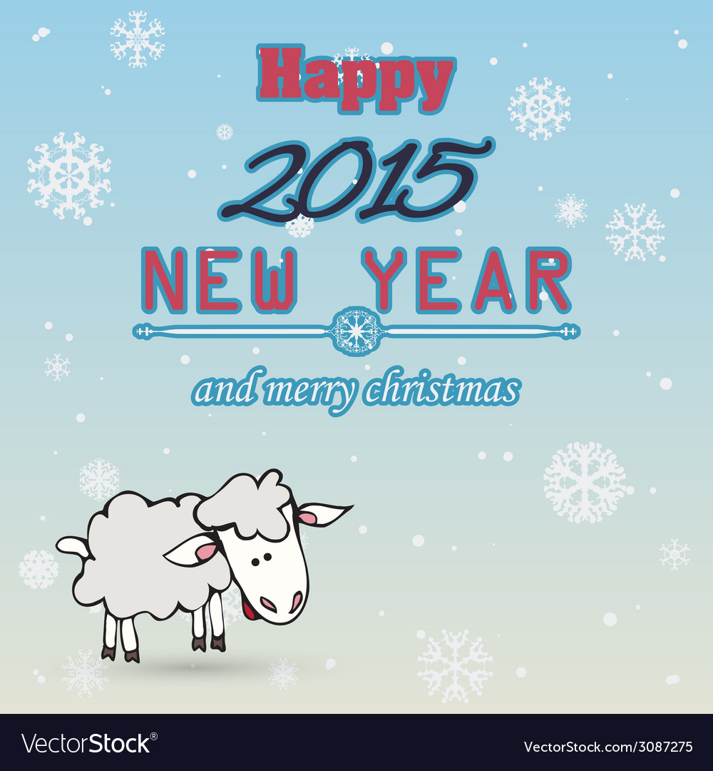 2015 Happy New Year background in Typography style