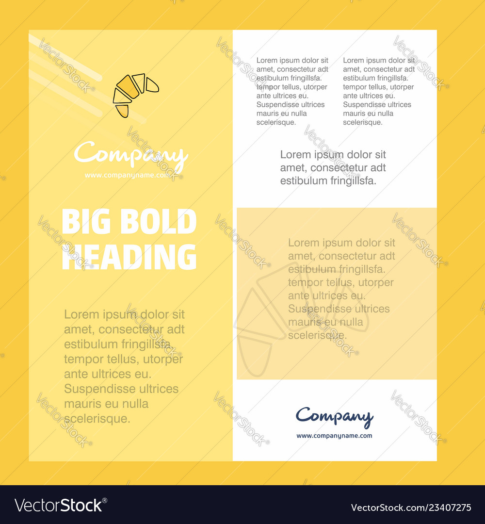 Bun business company poster template with place