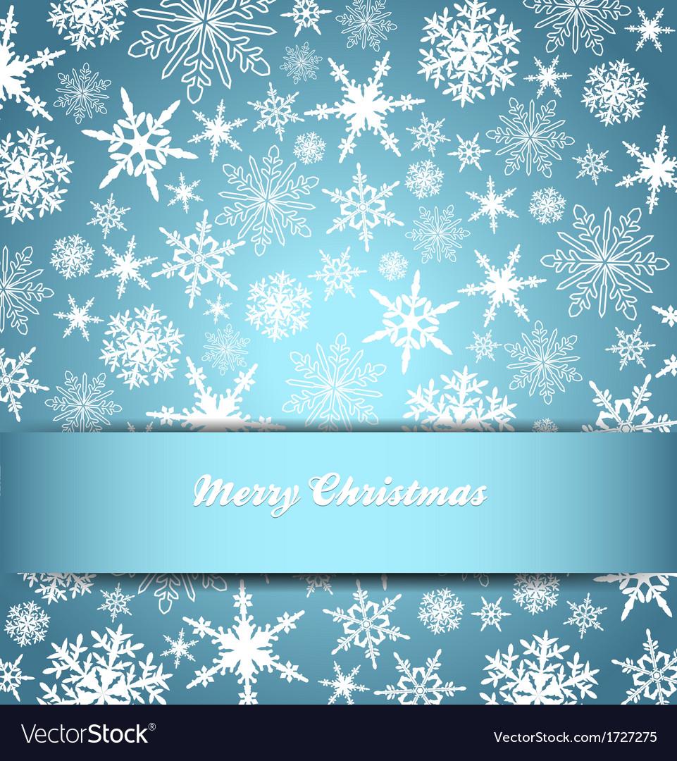 Christmas snowflake card banner invitation vector image stopboris Choice Image