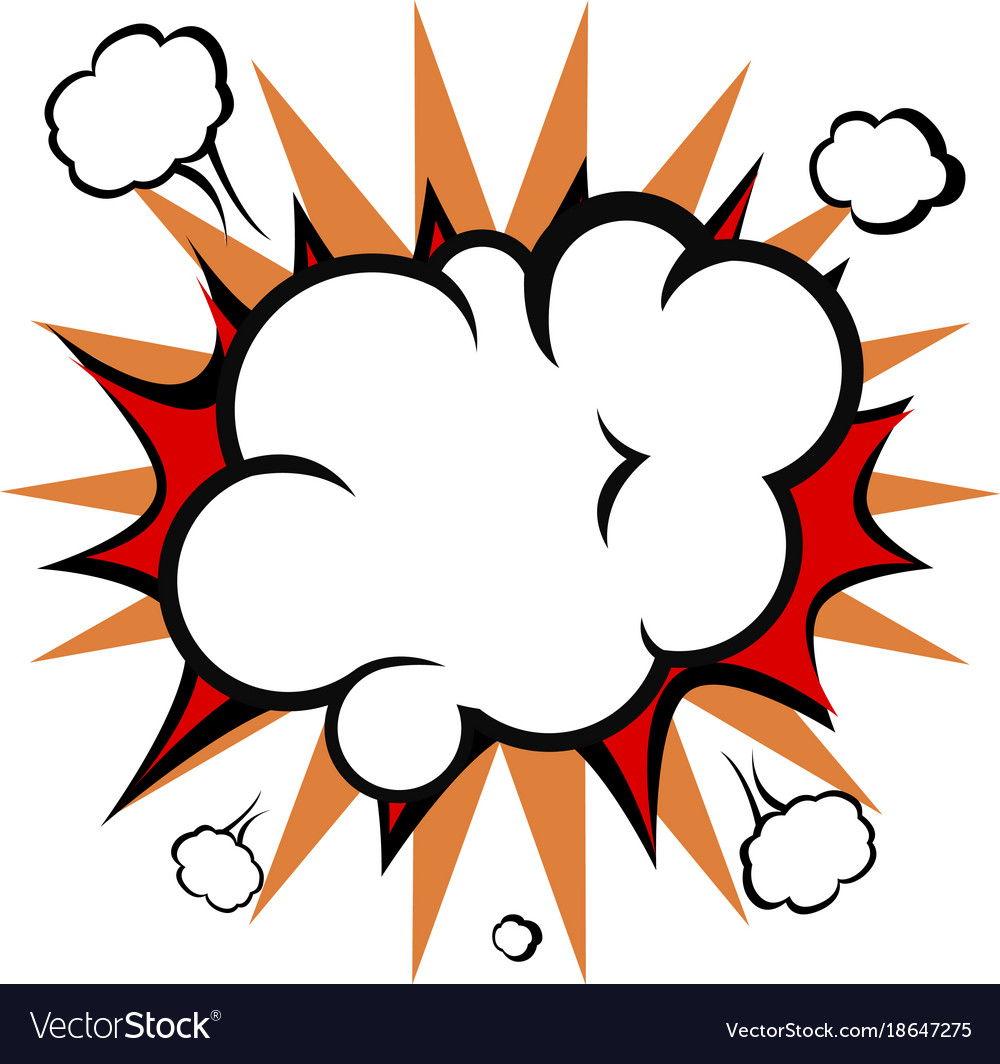 comic explosion cloud royalty free vector image rh vectorstock com vector explosion free vector explosion free