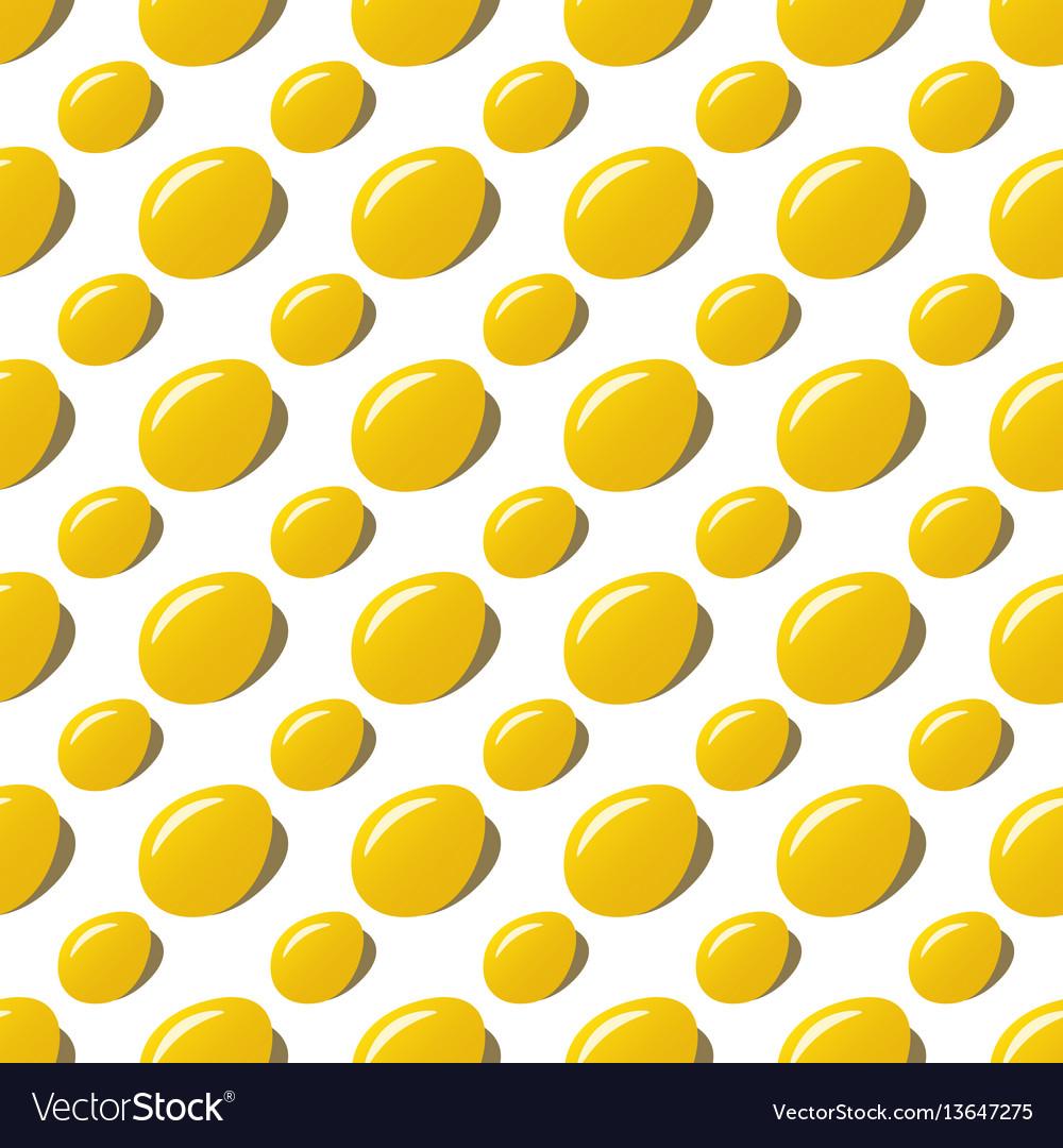 Easter golden eggs seamless pattern background vector image