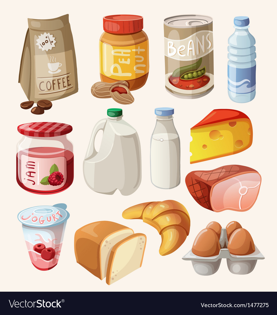 Set food and products that we eat every day