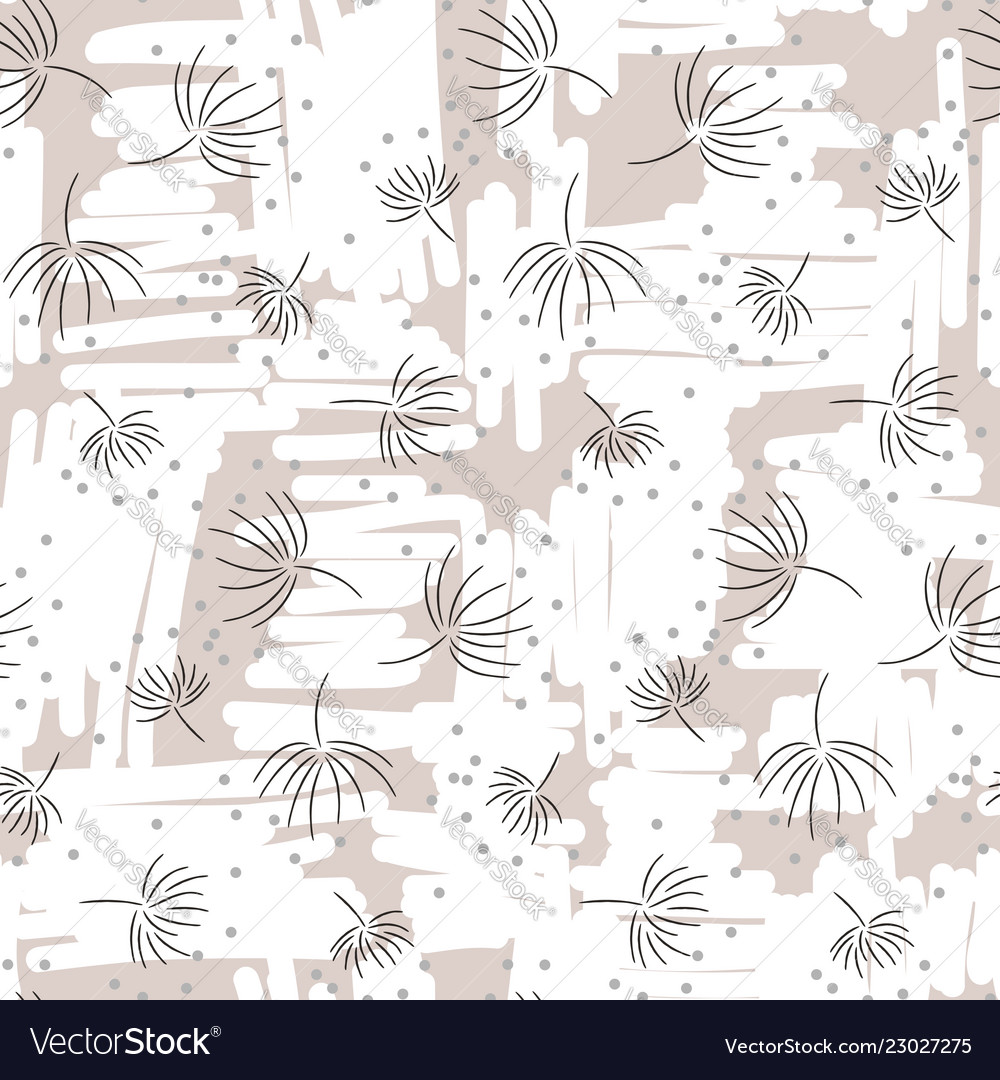 Vintage light floral seamless pattern with hand