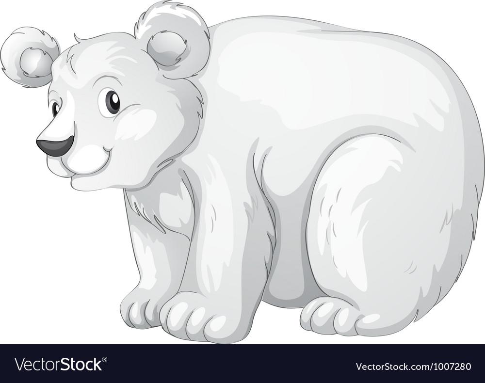Cartoon Polar bear vector image