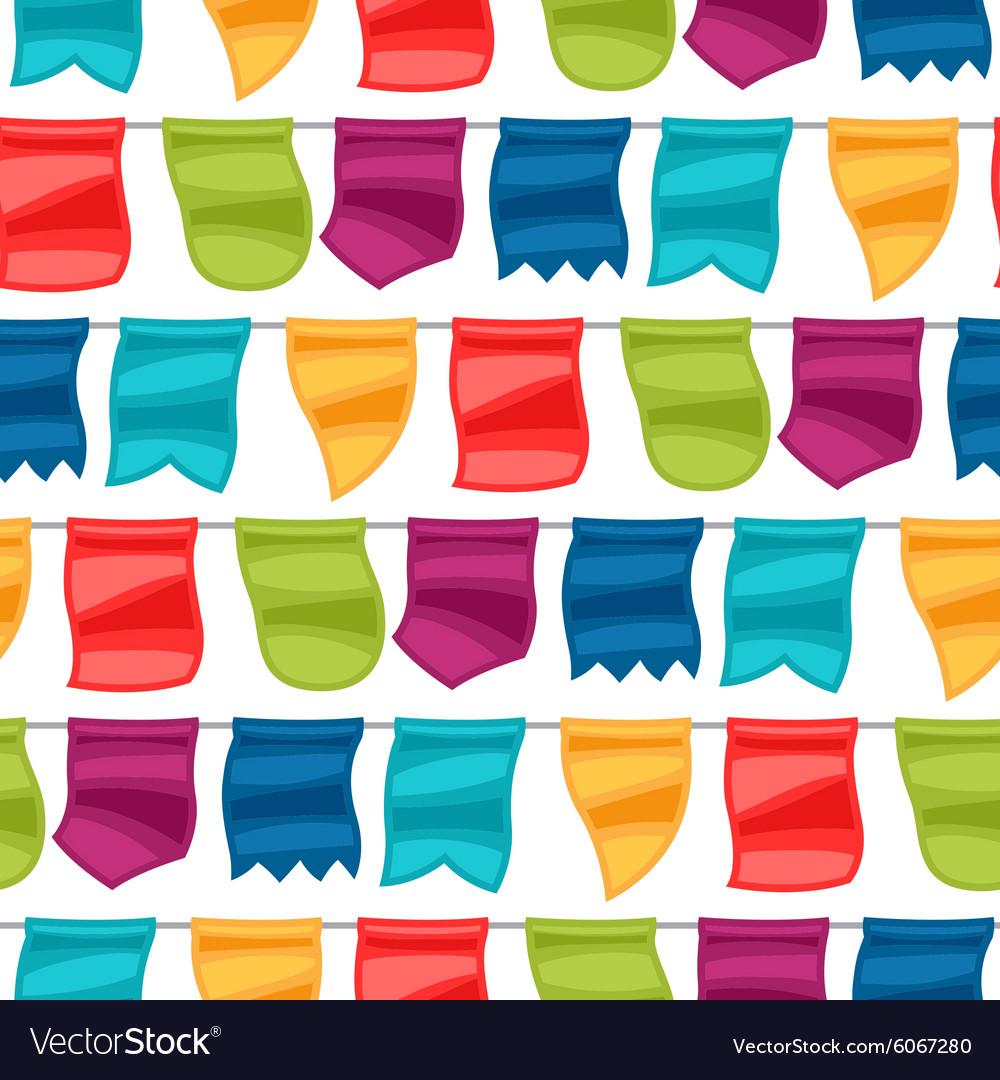 Celebration holiday seamless pattern with garland