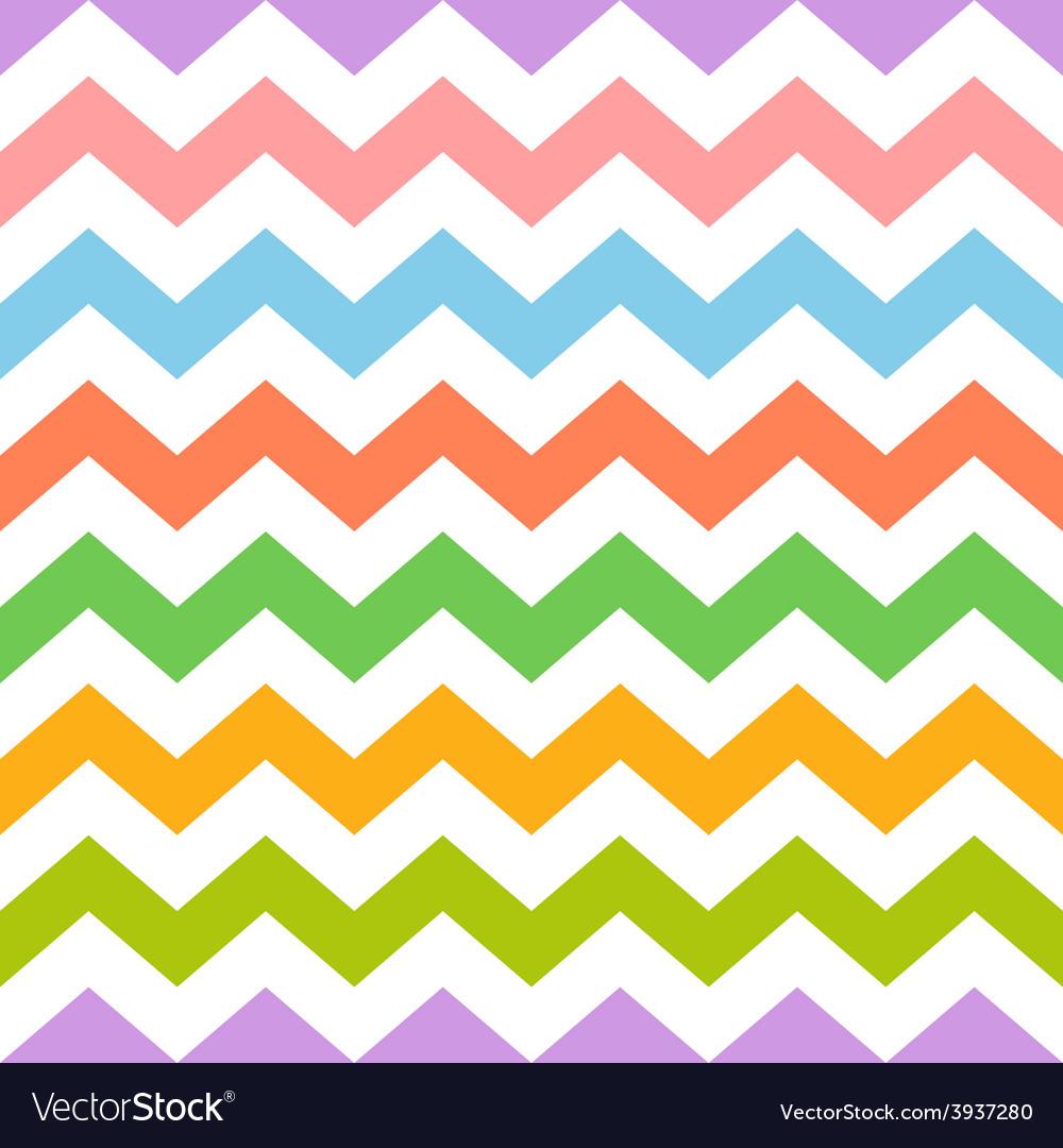 Colorful seamless zig zag pattern