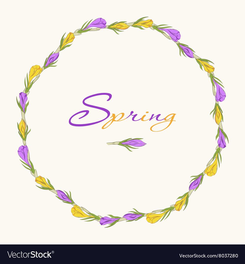 Crocus wreath 3 purple yellow