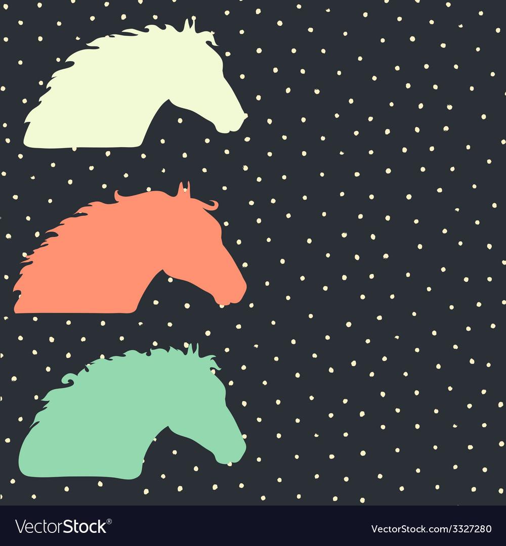 HorseHead6 vector image