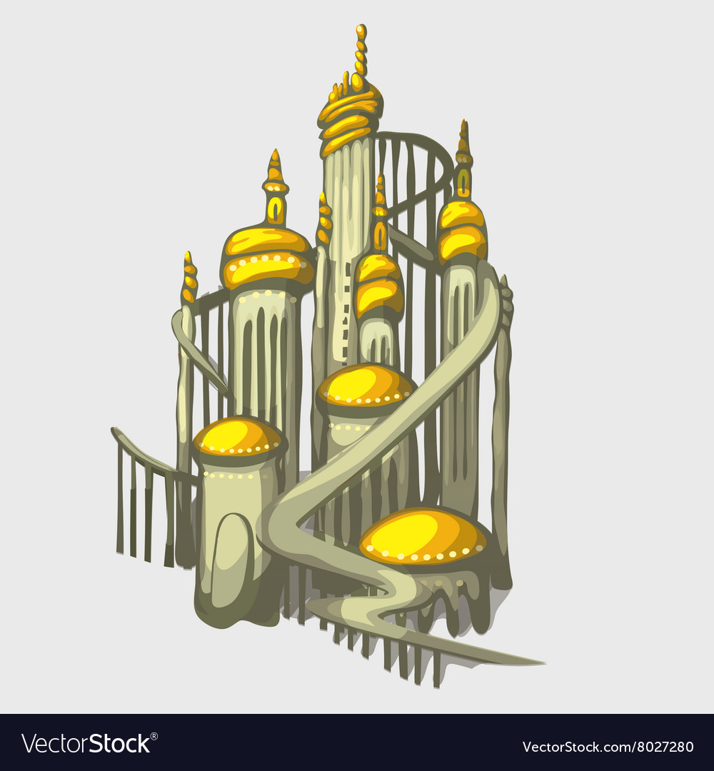 Isolated castle with Golden domes