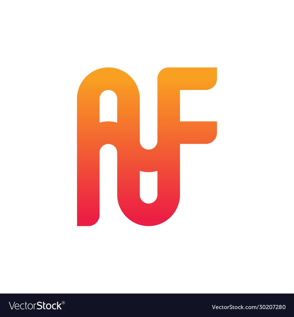 Monogram logo design letter af