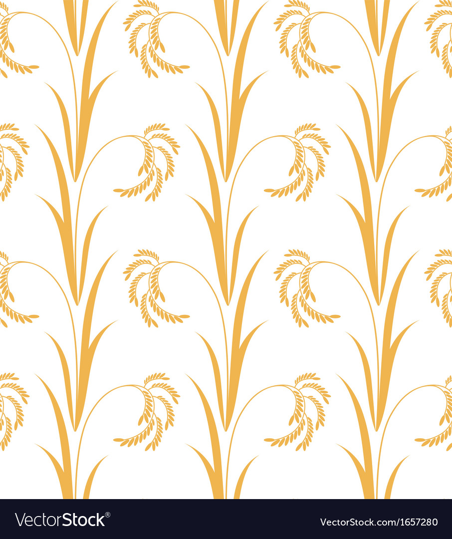 Rice Pattern vector image