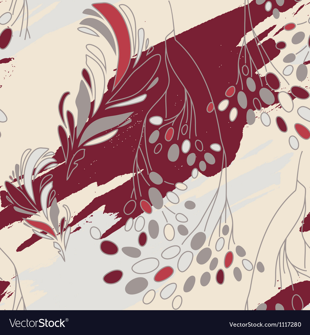 Seamless Floral Pattern With Flowers